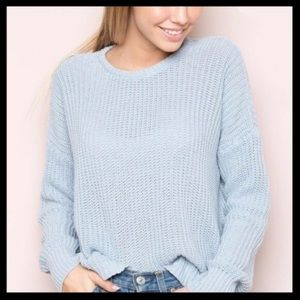 Brandy Melville Cropped Baby Blue Sweater